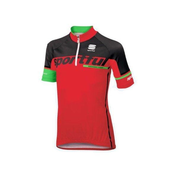 Červený dětský cyklistický dres Sportful