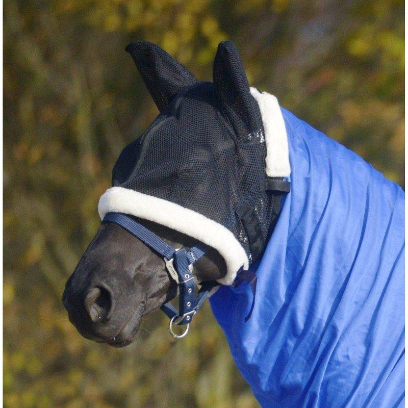 Černá deka na koně Waldhausen, Černá maska proti hmyzu Waldhausen