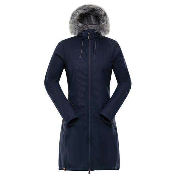 Modrý nepromokavý dámský kabát Alpine Pro - velikost M
