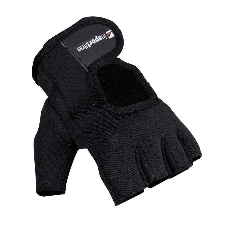 Černé fitness rukavice inSPORTline - velikost L