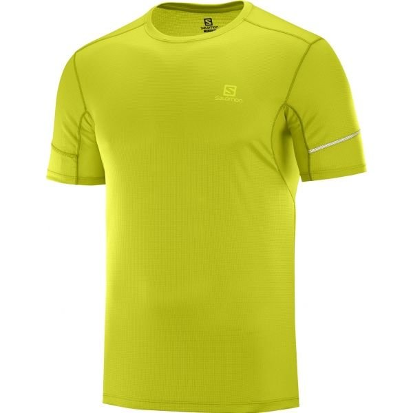 Zelené pánské tričko s krátkým rukávem Salomon - velikost S