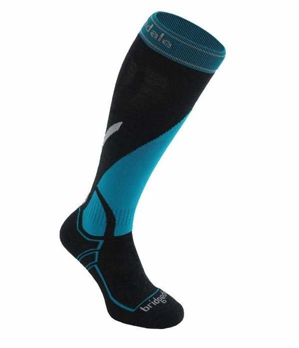 Černo-modré pánské lyžařské ponožky Bridgedale