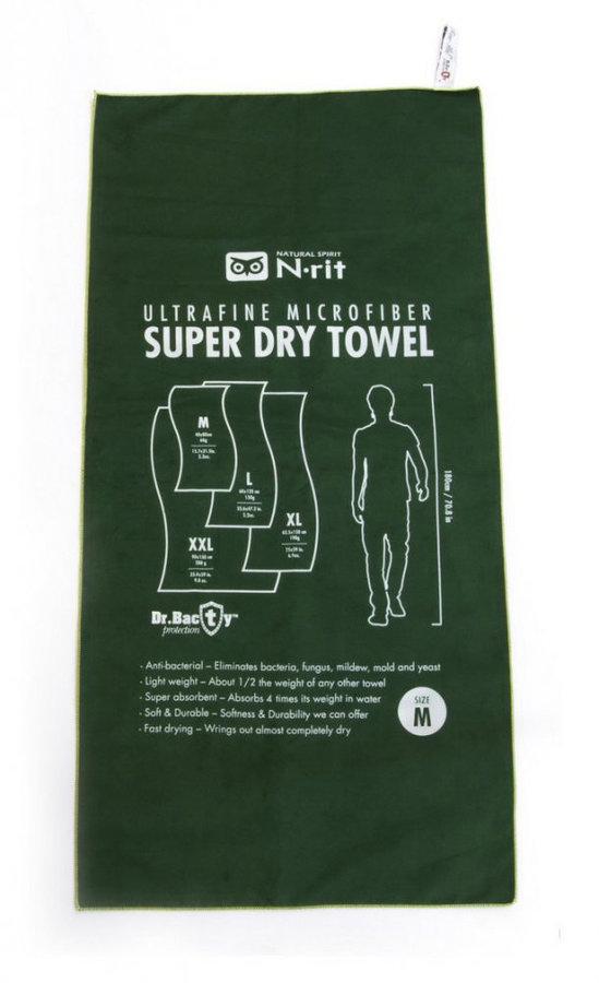 Ručník - Ručník N-Rit Super Dry Towel M Barva: zelená