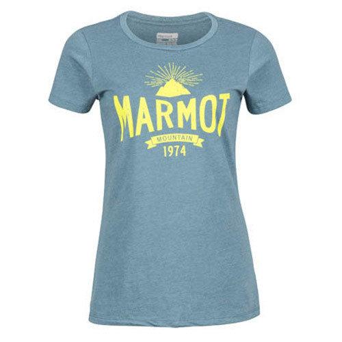 Šedé dámské tričko s krátkým rukávem Marmot