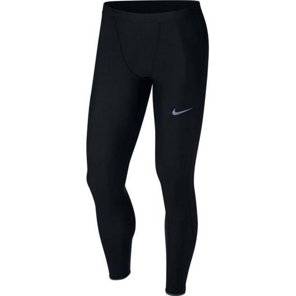 Černé pánské běžecké legíny Nike