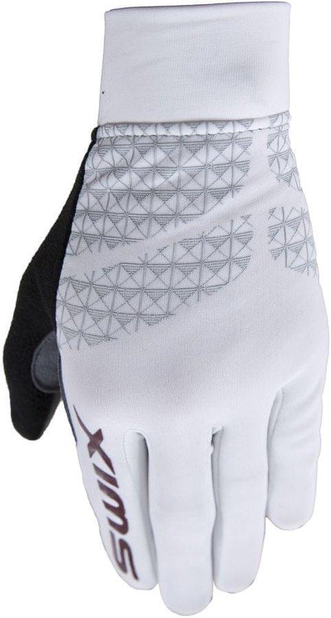 Bílé dámské rukavice na běžky Swix - velikost L