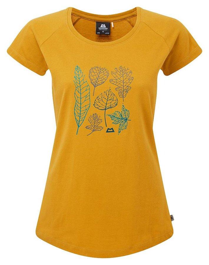 Žluté dámské turistické tričko s krátkým rukávem Mountain Equipment