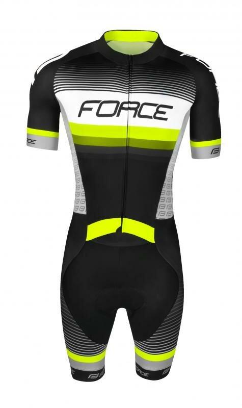 Černý pánský cyklistický komplet Force - velikost M