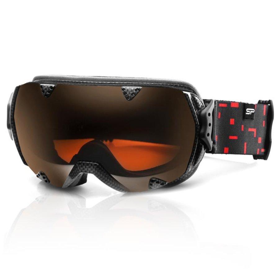 Černé lyžařské brýle Spokey