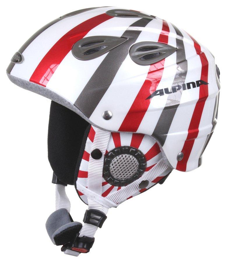 Bílá lyžařská helma Alpina - velikost 54-57 cm