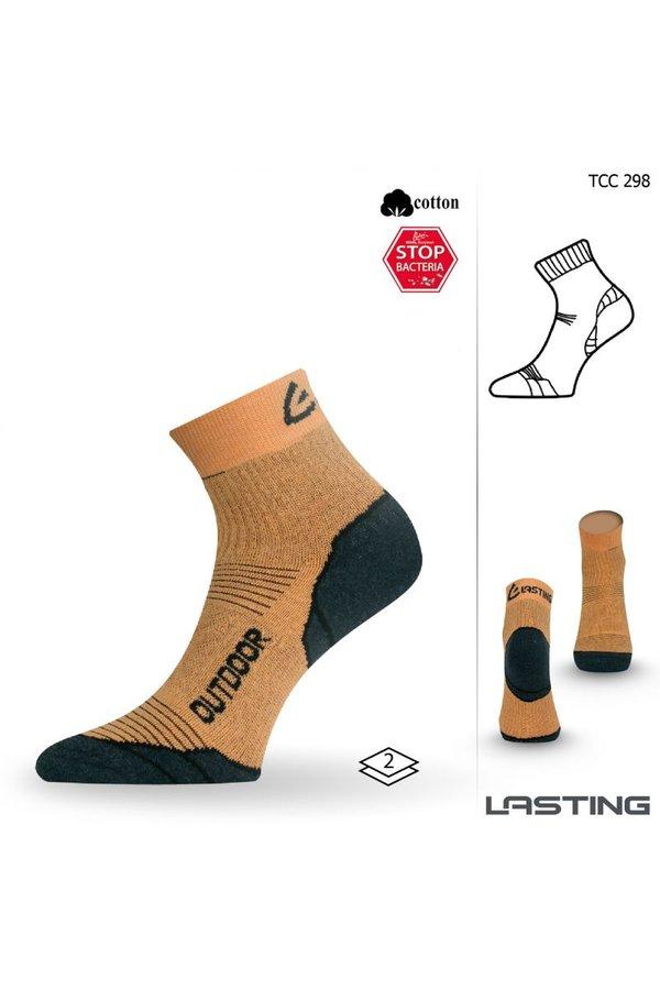 Žluté pánské trekové ponožky Lasting