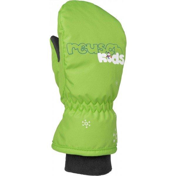 Zelené dětské lyžařské rukavice Reusch