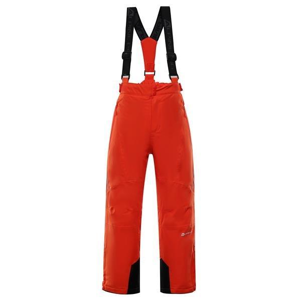 Červené dětské lyžařské kalhoty Alpine Pro - velikost 92-98