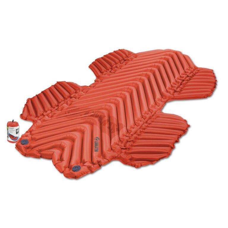 Červená karimatka Klymit - tloušťka 7,6 cm