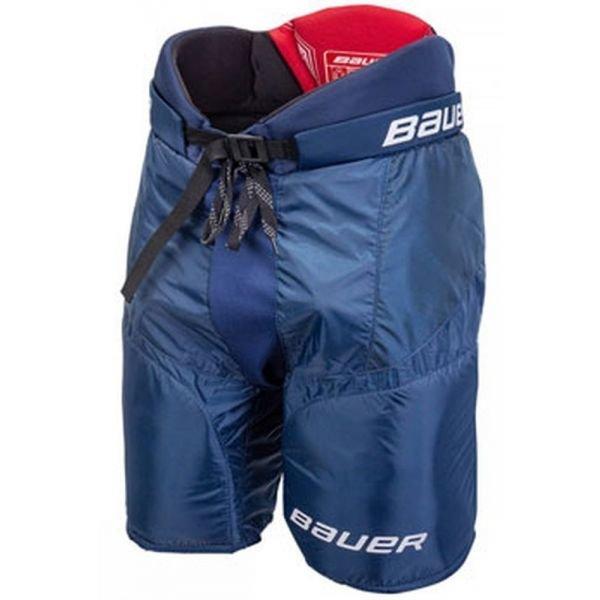 Modré hokejové kalhoty Bauer