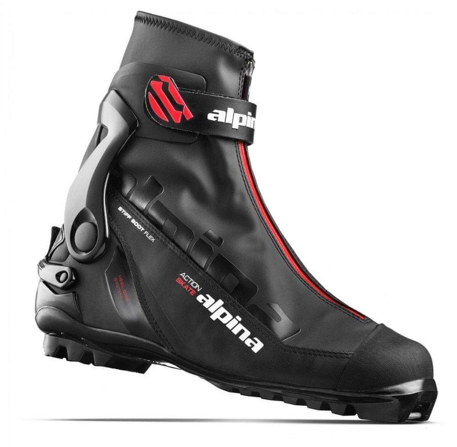 Černé boty na běžky Alpina - velikost 42 EU
