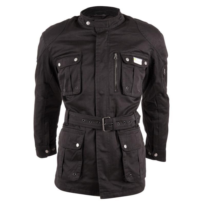Černá pánská motorkářská bunda Breathe, W-TEC - velikost XXL