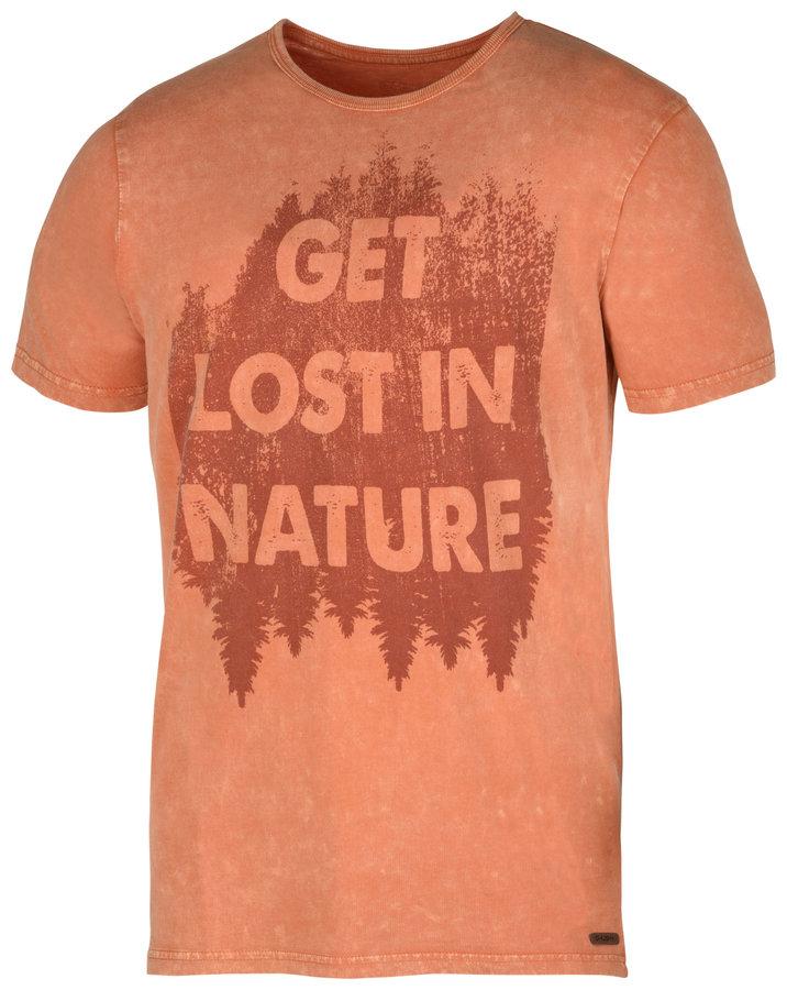 Oranžové pánské tričko s krátkým rukávem Husky - velikost L