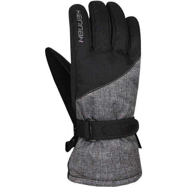 Černo-šedé dámské lyžařské rukavice Hannah