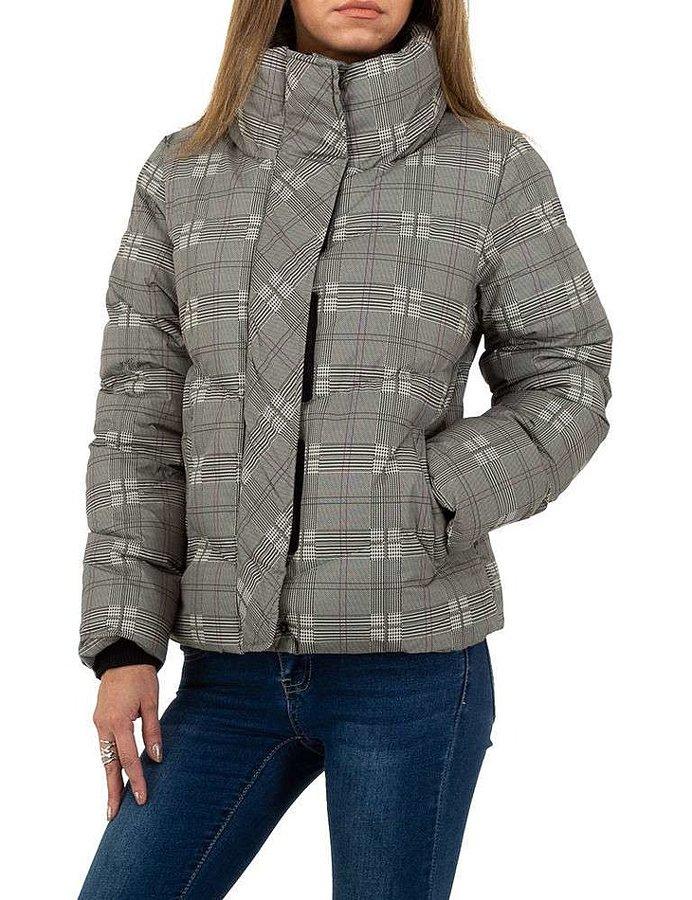 Šedá zimní dámská bunda
