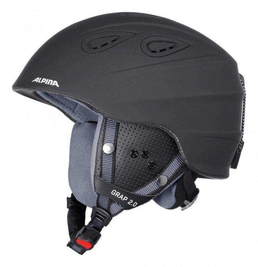 Černá dámská lyžařská helma Alpina Sports - velikost 57-61 cm
