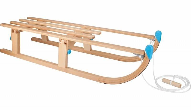 Dřevěné dětské skládací sáňky Nijdam