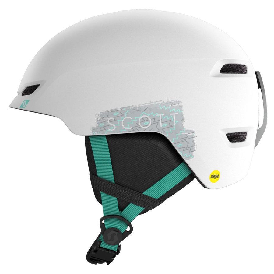 Bílo-zelená dětská lyžařská helma Scott