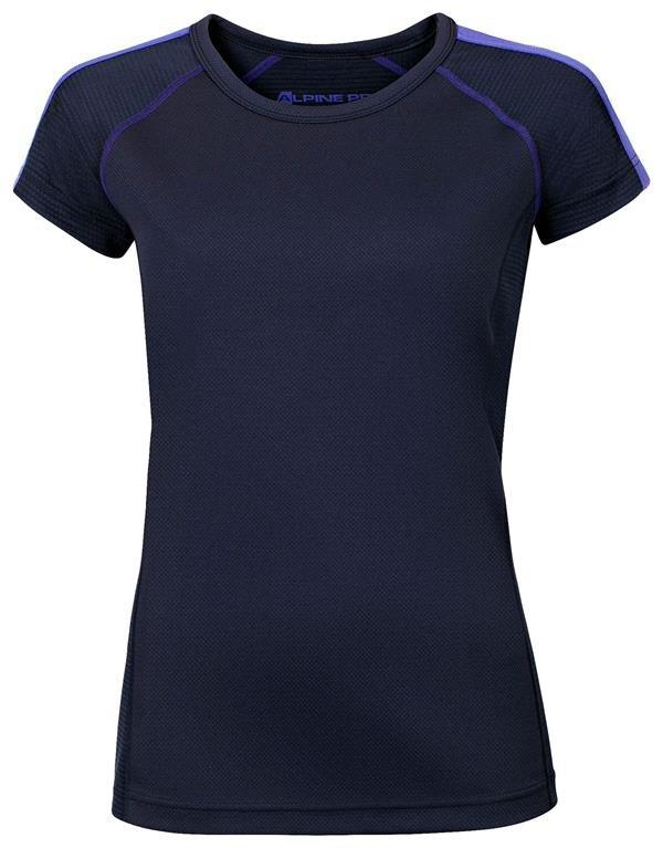 Modré sportovní dámské funkční tričko Alpine Pro - velikost S