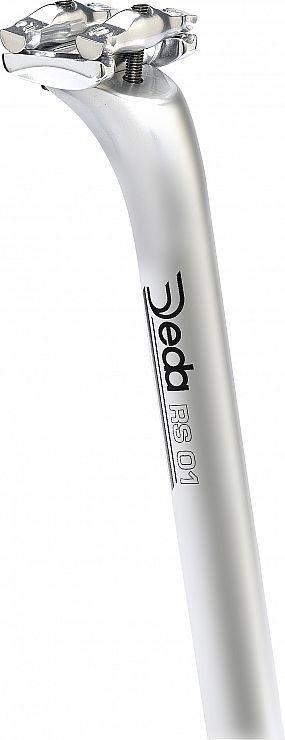 Stříbrná pevná sedlovka Deda Elementi - průměr 31,6 mm a délka 350 mm