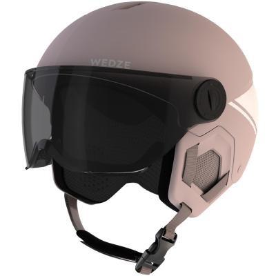 Růžová dětská lyžařská helma Wed'ze - velikost 53-56 cm
