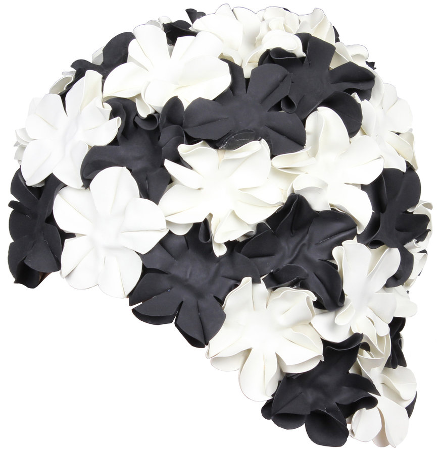 Černá dámská nebo pánská plavecká čepice Bloom, Aqua-Speed