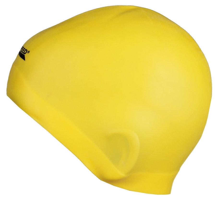 Žlutá dámská nebo pánská plavecká čepice RACER, Aqua-Speed