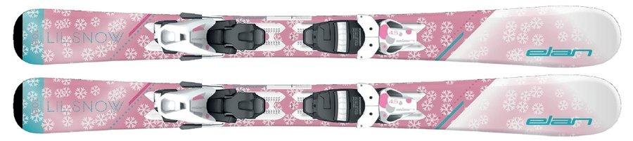 Růžové dětské lyže s vázáním Elan - délka 90 cm