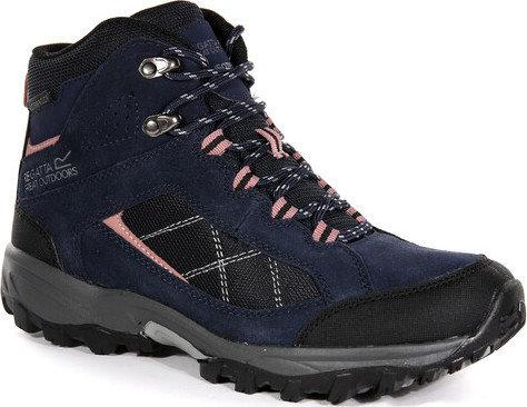 Modré nepromokavé dámské trekové boty Clydebank, Regatta