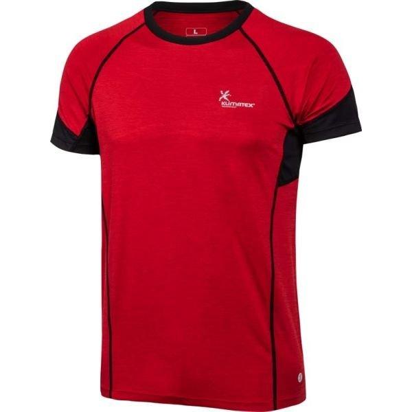 Červené pánské běžecké tričko Klimatex