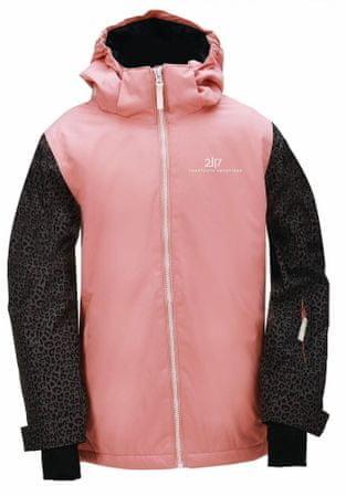 Černo-růžová dívčí lyžařská bunda 2117 of Sweden - velikost 128