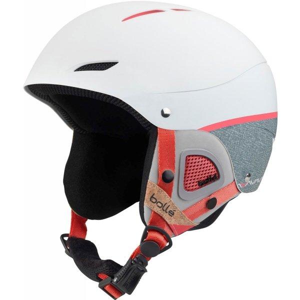 Bílo-šedá dámská lyžařská helma Bollé