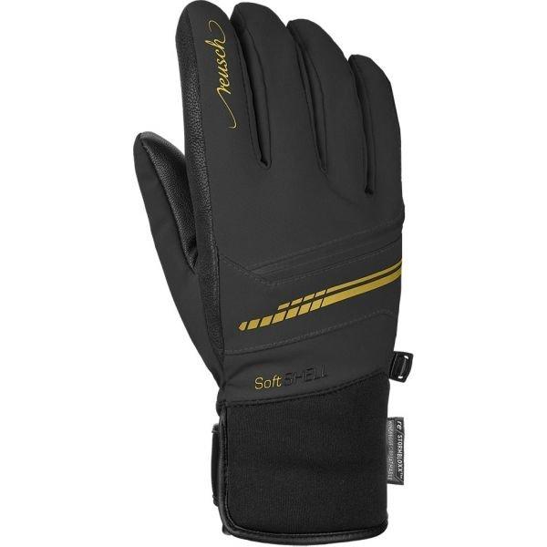 Černé lyžařské rukavice Reusch