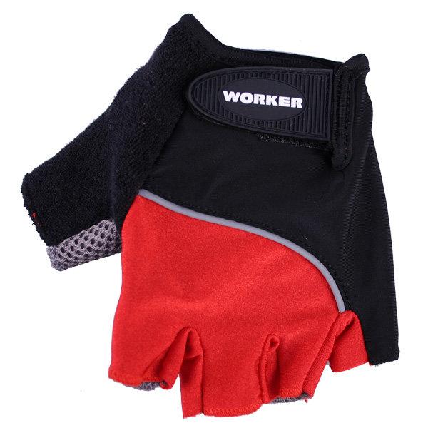 Červené cyklistické rukavice Worker - velikost XL