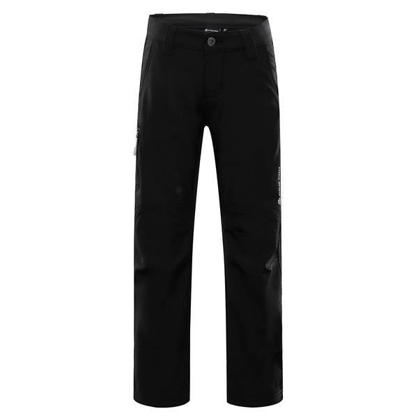 Černé softshellové dětské kalhoty Alpine Pro
