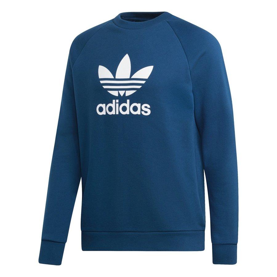 Modrá pánská mikina bez kapuce Adidas - velikost S