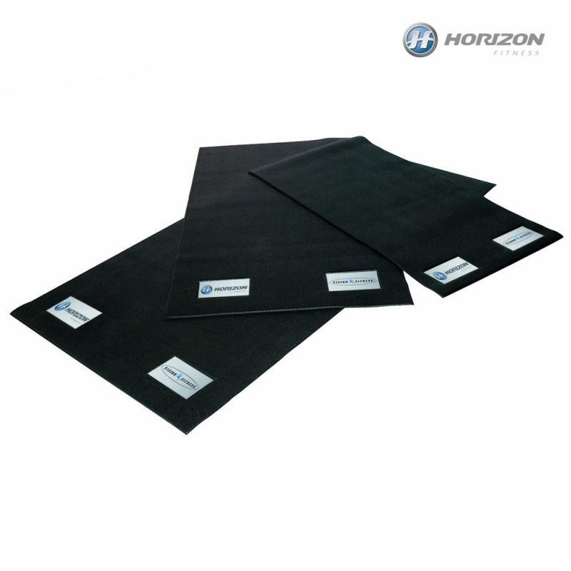 Černá zátěžová podložka HORIZONFITNESS - tloušťka 6 mm