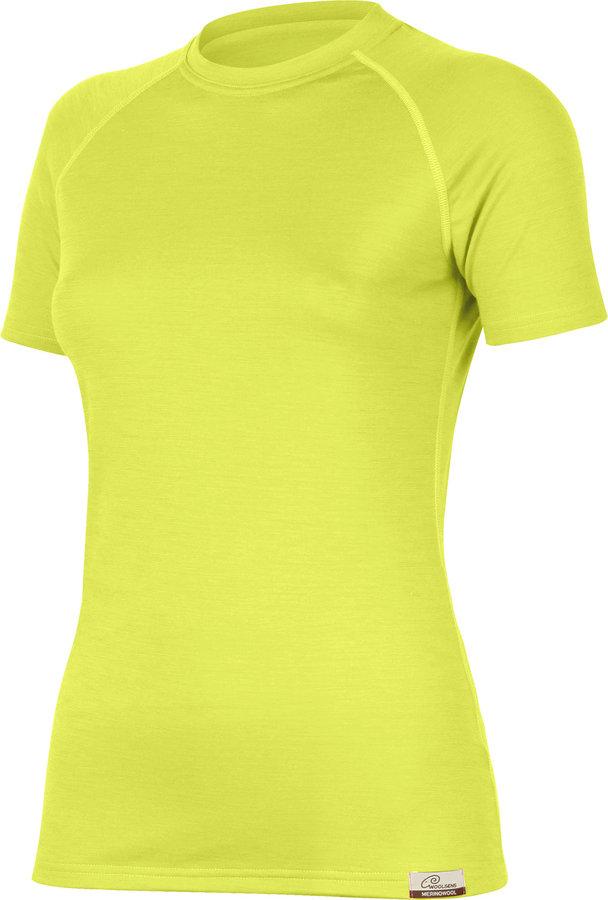 Žluté dámské tričko s krátkým rukávem Lasting