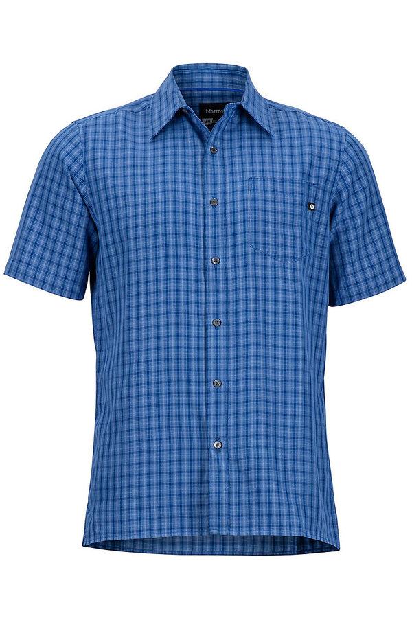 Modrá kostkovaná pánská košile Marmot - velikost XL