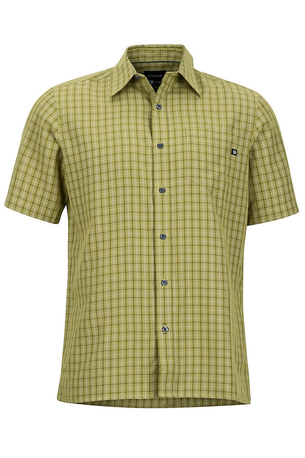 Zelená kostkovaná pánská košile Marmot