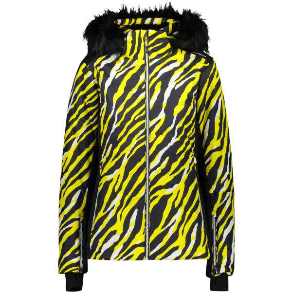 Žlutá dívčí lyžařská bunda CMP