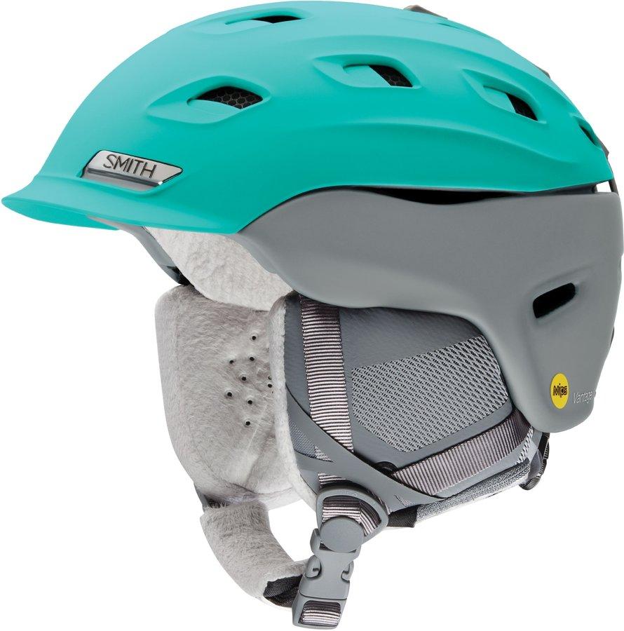 Modro-šedá dámská helma na snowboard Smith