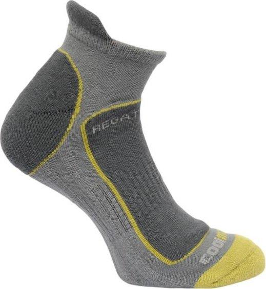 Šedé kotníkové pánské běžecké ponožky Regatta