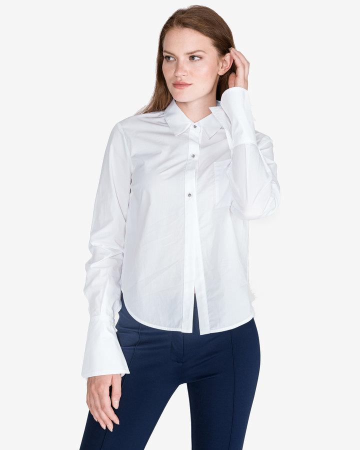 Bílá dámská košile s dlouhým rukávem Pinko - velikost M