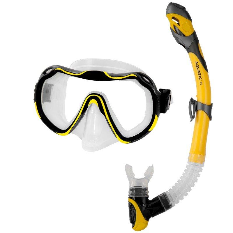 Potápěčská sada - Aqua-Speed Java+Elba žlutá